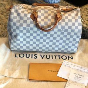 🥰Louis Vuitton Damier Azur Speedy 35🎀👜 2018 bag